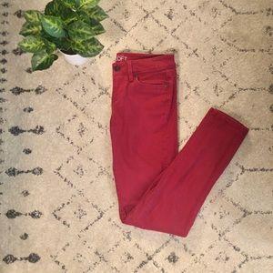 LOFT Modern Skinny Jeans, Magenta Small